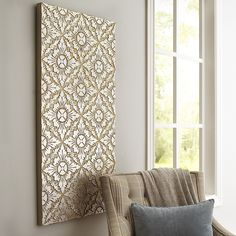Carved Tilework Wall Panel - Platinum