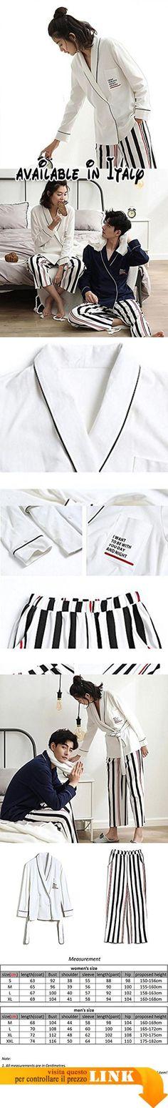 B078NTHMC8 : Donne o uomini Puro cotone Set da pigiama 2 pezzi morbido Abbigliamento da notte per casa S-XXL  white  xl. La nostra taglia è diversa dalle dimensioni del Regno Unito e dalla tabella delle taglie di Amazon per favore scegli le dimensioni corrette con le nostre informazioni dettagliate sulla dimensione nella foto assicurati che i dettagli ti stiano bene;. Acquista i suoi abiti da uomo e da donna insieme hai uno sconto ti preghiamo di contattarci per un