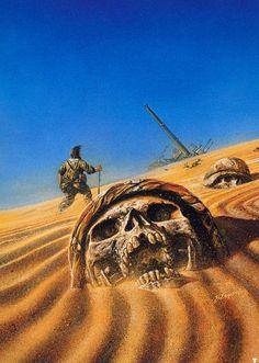 70s Sci-Fi Art-  Bob Eggleton's skulls