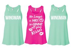 Bahahaha check out my bffs new tanks! Just Un- married divorced party tank tops. Wingman by GirlyGrip