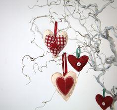 Scandinavian themed heart decorations
