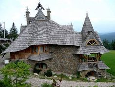 From Poland comes another stunning hand-crafted creation. This cottage is located in Białka Tatrzańska, the Tatra Mountains.