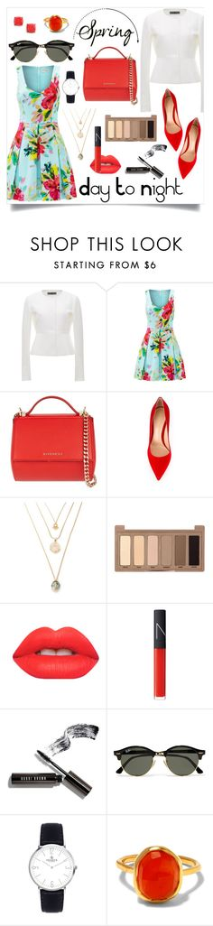 """Untitled #42"" by wardrobe-goals ❤ liked on Polyvore featuring Rochas, Trina Turk, Givenchy, Gianvito Rossi, Urban Decay, Lime Crime, NARS Cosmetics, Bobbi Brown Cosmetics, Ray-Ban and Monica Vinader"