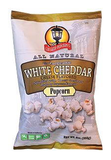 @Gaslamp Popcorn White Cheddar popcorn is made in small batches to ensure that every handful is popped to perfection. Flavored with all natural white cheddar...