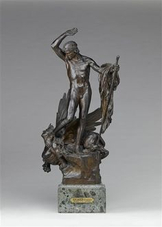 "François Léon Sicard : ""Oedipe and the sphinx"", bronze, Orsay Museum, Paris. Le Sphinx, Human Head, Giza, Bronze Sculpture, Mythical Creatures, French Antiques, Les Oeuvres, Renaissance, 19th Century"