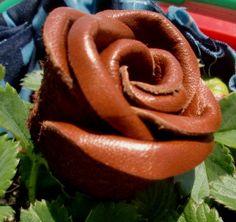 DIY Leather Flower