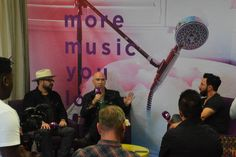 Press Conference with LIVE band members Chad & Ed .