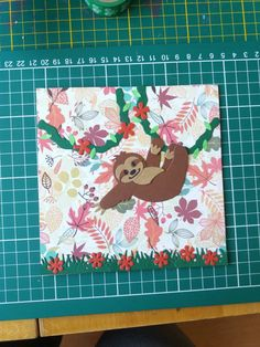 Marianne Design, Card Sketches, Sloth, Projects To Try, Tropical, Scrapbooking, Cards, Scrapbook Albums, Atelier
