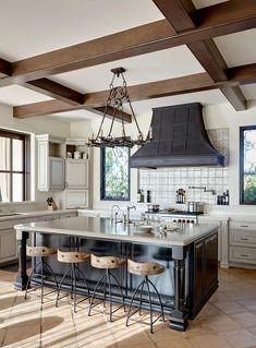 Spanish Kitchen Decor, Tuscan Kitchen Design, Kitchen Interior, Kitchen Designs, Kitchen Ideas, Tuscan Style Homes, Spanish Style Homes, Tuscan House, Spanish Revival