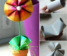 Toilet paper rolls are those items that we use every day. Instead of just throwing those empty toilet paper tubes out, we can repurpose them as creative crafts for kids or home decoration. Here are Homemade Toilet Paper Roll Crafts for your inspiration. Kids Crafts, Crafts To Do, Arts And Crafts, Easy Crafts, Preschool Crafts, Rolled Paper Art, Toilet Paper Roll Crafts, Diy Paper, Recycle Paper