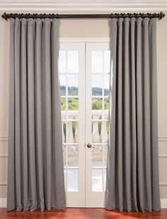 Neutral Grey Doublewide Blackout Curtain   SKU: Atu2026