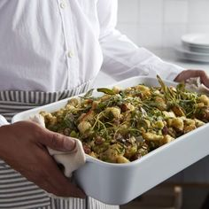 Focaccia Stuffing with Sausage and Mushrooms | Williams Sonoma Thanksgiving Recipes, Fall Recipes, Thanksgiving 2020, Yummy Recipes, Recipies, Turkey Stuffing, Stuffed Mushrooms, Stuffed Peppers, Kitchens