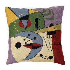 Zaida Miro UFO 45x45cm Embroidered Cushion, Multi