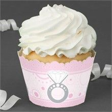 With This Ring -  Bridal Shower Cupcake Wrappers