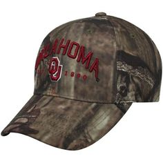 premium selection 906e7 ccbc6 Top of the World Oklahoma Sooners Forkhorn Adjustable Hat - Mossy Oak Camo  You re