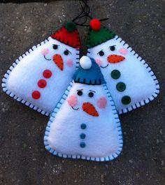 Snowman Felt Doll/Ornament, www.etsy.com/shop/patsfabriccreations