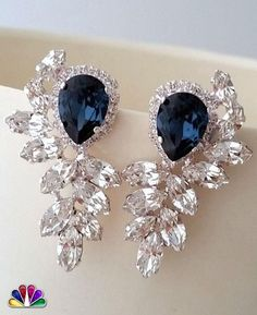Gorgeous Blue Sapphire Earrings. Unique Design, Stunning Looks, What else you need?