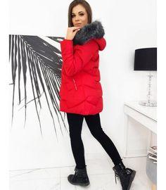Červená prešívaná bunda Eric Winter Jackets, Fashion, Winter Coats, Moda, Winter Vest Outfits, Fashion Styles, Fashion Illustrations