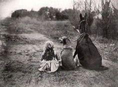 girl, dog & horse