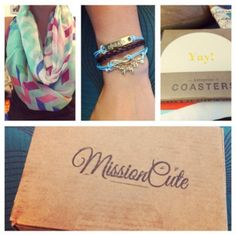 Mission Cute subscription box that gives 50% back to a different charity each month.