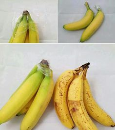 Para a banana não amadutecer logo, envolva o cabinho em filme pvc