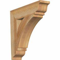 Ekena Millwork BKTTHR01 Thorton Traditional Style Rustic Timber Wood Bracket BKTRBKTTHR01 - ArchitecturalDepot.com