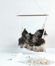 Lovely! Handmade wool from sheep without skin