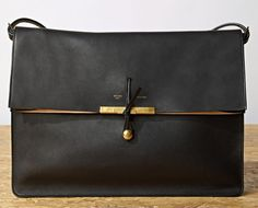 Celine Clasp Calfskin Shoulder Bag. Want it, besides the fact that it's real leather :x