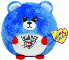 Ty Beanie Ballz Oklahoma City Thunder - NBA Ballz by Ty Beanie Ballz. $8.99. Ty from our heart to yours. High quality for a low price. Handmade with the finest quality standards in the industry. Collect Them All. Look for the familiar heart-shaped tag that means you?ve purchased an authentic Ty product. From the Manufacturer                Beanie Ballz are a little wild and whacky, toss 'em and they always land on their feet. Ty's Sports Beanie Ballz are the best, collect them al...