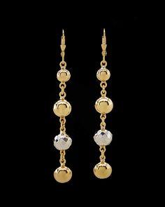 14K Italian Gold Drop Earrings is on Rue. Shop it now.
