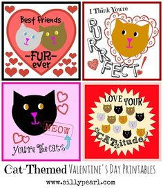 cat themed valentine's day cards
