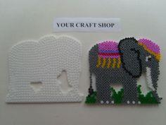 Hama bead elephant pegboard pattern