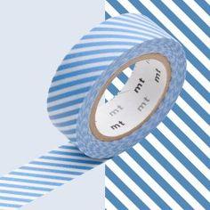 masking tape rayé bleu clair