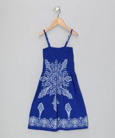 Another great find on #zulily! Blue Bandanna Sundress - Toddler & Girls #zulilyfinds