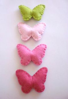 Butterfly Felt Favors Baby Shower Favors by twinsandcrafts