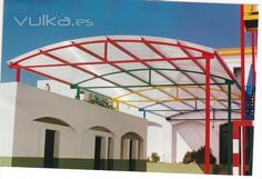Membrane Structure, Shade Structure, Steel Structure, Metal Garage Buildings, Steel Buildings, Steel Trusses, Roof Trusses, Curved Pergola, Covered Pergola