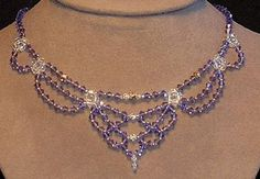 beaded+jewelry+patterns | This sparkling Victorian style necklace designed by dshdesigns is made ...