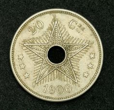 Congo Free State 20 Centimes Coin