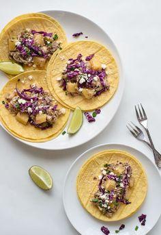 Slow Cooker Jerk Chicken Tacos. The easiest jerk chicken recipe!