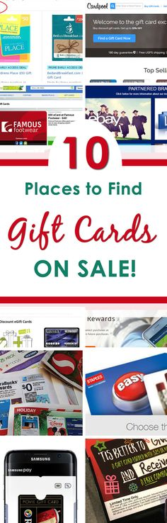 the 10 best places to find gift cards on sale - Gift Card Places