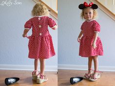 Make a cute dress with this free girls dress pattern. I love Melly Sews!!