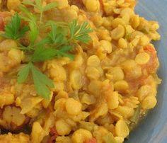 Curry de lentejas amarillas (dal)