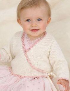 Free Knitting Pattern for Baby Ballerina Wrap