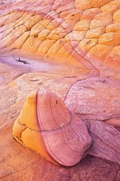 """Big Rock Candy Mountain: Deep in the remote Escalante Grand Staircase Wilderness you can find some of the most unique and dramatic examples of mother nature's handy work. Sitting silent in this largely unexplored region, this little two-foot tall rock is merely a """"taste"""" of the many geological delights and oddities waiting to be explored. by Stephen Oachs"""