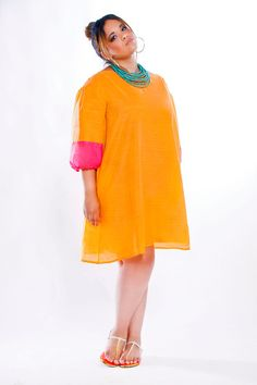 JIBRI Plus Size Shift Dress Pink by jibrionline on Etsy $140.00