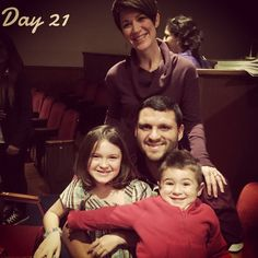 """""""Day 21 - preview for the show I directed at AD Players.  Joey and the kids got to come!  If you get a chance, come see it.  They really are hilarious and…"""""""
