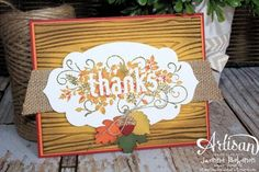 Seasonally Scattered Card | created by Jeanna Bohanon for Stampin' Up!s 2014 Convention Display Board