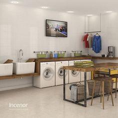 WEBSTA @ incenor - Possuímos uma linha completa de pisos e revestimentos cerâmicos para atender construtoras. Nosso P32370 e P-31010, apesar de serem aplicáveis em qualquer ambiente interno, são ideais para áreas de serviço e banheiros. #Incenor #linhatécnica #lavanderia #laundry