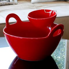 Chip 'n Dip Set in Red.