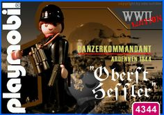 """Panzerkommandant """"Oberst Hessler"""" // The image and figures do not necessarily reflect the opinion of Playmobil. #playmobilcustom"""